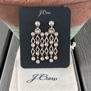 J. Crew Crystal Chandelier Earrings! - NEW!